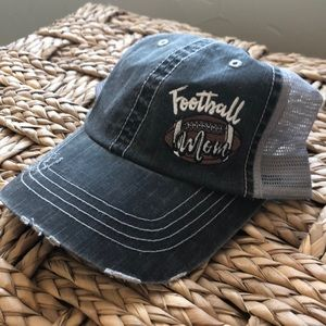 NWOT Football Mom distressed hat